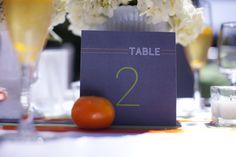 Modern Table Numbers  Citrus Wedding Ideas - Styled Shoot by Urbane Montage - Munaluchi Bridal Magazine
