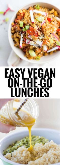 Easy Vegan On-the-Go Lunches: Perfect for work or school, these healthy plant-based recipes will leave you full and satisfied all afternoon long. || http://fooduzzi.com recipes