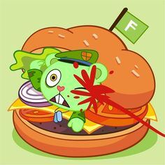 Flippy Burger+ by Happy Tree Friends Flippy, Friend Anime, Three Friends, Adult Cartoons, Rugrats, Cartoon Shows, Furry Drawing, Childhood, Fan Art