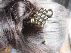 Pic à chignon pic à cheveux en métal or antique par CO2Bijou