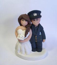 Custom Police Wedding Cake Toppers :) Law Enforcement www.gingerbabies.etsy.com www.facebook.com/gingerbabies