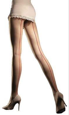 Fiore Unique 20 Denier Seamed Matte Tights - See more tights at www.fashion-tights.net #tights #pantyhose #hosiery #nylons #fashion #legs #legwear #advertising #influencer #collants