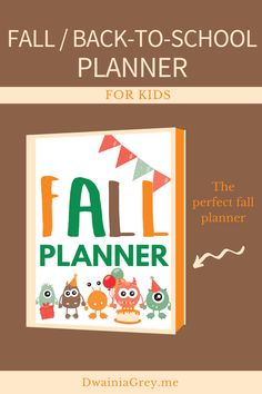 Keep your family organized by planning your family's fall activities. This colorful planner for kids and the whole family to use to plan your autumn and back-to-school. Comes with 2 printable PDF versions and 12+ cover options. Included - Undated Calendar: Aug, Sept, Oct, and Nov - Weekly Planner - Daily Planner - Fall Bucket List - Fall Reading List - Monthly Activity Planner - Indoor and Outdoor Planner - Family Activity Planner - Me Time Planner - Fall Shopping List - Fall Journal Pages Kids Planner, School Planner, Weekly Planner, School Information, Perfect Planner, Family Organizer, Back To School Shopping, Autumn Activities, Me Time