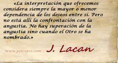 Pensamientos de J. Lacan, Angustia