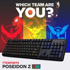 Show us your ‪#‎BattleColors‬ with the ‪#‎TteSPORTS‬ POSEIDON Z RGB Gaming Keyboard.