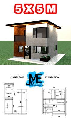 Mini House Plans, Model House Plan, New House Plans, Small House Plans, Dream House Plans, Small House Layout, House Layouts, Simple House Design, Minimalist House Design