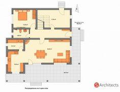 """""""Лаванда"""" – елегантен проект на къща на два етажа - Списание """"още за КЪЩАТА"""" - Строителство, Архитектура, Проектиране   ka6tata.com Duplex House Plans, Home Design Plans, House Architecture, Floor Plans, House Design, How To Plan, Country Houses, Home Architecture, Architecture Design"""