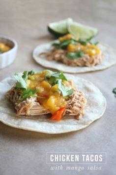 Chicken Tacos with Mango Salsa  