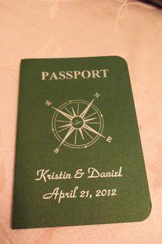 DIY Save the Date/Invitation Passports
