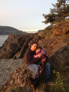 Margo, Ava, & Neecey; My three girls at Deception Pass at sunset.