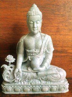 "9"" Medicine Buddha Green Jadeite Jade Buddha Carved Natural Gemstone Statue  #HandCarved"