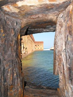 Fort Jefferson moat.  Dry Tortugas National Park