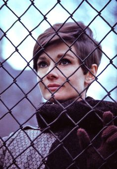 Audrey Hepburn photographed in New York during the filming of Wait Until Dark (1967).