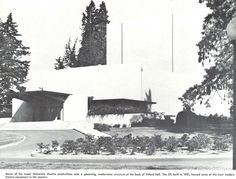 The University Theater in 1953, attached to Villard Hall. From the 1954 Oregana (University of Oregon yearbook). www.CampusAttic.com