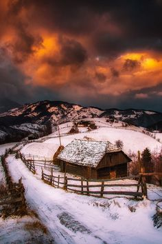 """ponderation: """" Sunset in Bran by cezarmachidon """""""