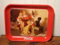Vintage Coca Cola Christmas Tray - Coke Advertising Souvenir Tray  - by BubbiesMemories on Etsy