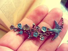 ---- Blue Bird ---- by CatAndBirdStudio on Etsy Brass Pendant, Lucky Charm, Beautiful Necklaces, Blue Bird, Antique Jewelry, Retro Vintage, Bird Party, Brooch, Special Person