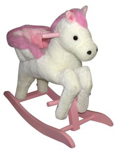 Rocking Horse White and Pink Princess Cassidy would PLOTZ if I got this for her, LOL