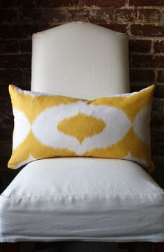 This pillow should definitely be on my bed right now. From MarthaandAsh on Etsy $49