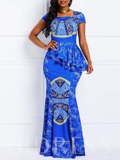 m.tbdress.com offers high quality Square Neck Cap Sleeve Falbala Casual Women's Maxi Dress under the category Maxi Dresses unit price of $ 28.99.