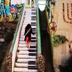 musical stairs instead of chairs