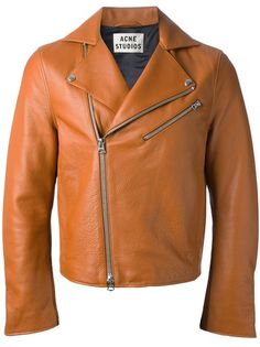 Brown Leather biker jacket 7
