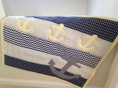 Nautical nursery... A personal favorite from my Etsy shop https://www.etsy.com/listing/254513990/anchor-baby-quilt-nautical-baby-bedding