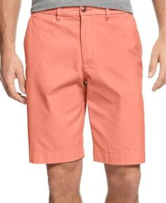 Tommy Hilfiger Men's Classic-Fit Chino Shorts - Orange 31W