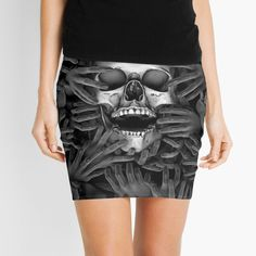 """""""Hell Reclaims It's Own"""" Mini Skirt by GrandeDuc 