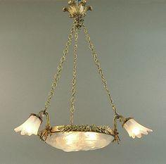 Egrets take flight french art deco chandelier with degu glass french art deco chandelier with degu glass art deco chandelier french art and art deco aloadofball Gallery