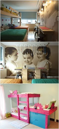 Cute Rooms with Triple Bunk Beds