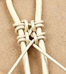 Handmade Jewelry DIY Macrame Bracelet How to: Knots used for fishing lures can also be helpful in… 4 Wire Jewelry Making Macrame Jewelry, Wire Jewelry, Jewelry Crafts, Handmade Jewelry, Diy Jewellery, Wire Rings, Jewelry Ideas, Jewelry Holder, Homemade Jewellery