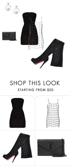 """party"" by skyler284 on Polyvore featuring Christian Louboutin, Yves Saint Laurent and Skagen"