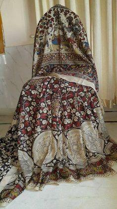 Exclusive Kalamkari Silk sarees | Buy Online Kalamkari sarees | Elegant Fashion Wear