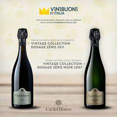 Al #Vintage #Collection Dosage Zéro 2011 e al #Vintage #Collection Dosage Zéro 2007 il riconoscimento della Corona della guida Vinibuoni d'Italia. Un grande onore!