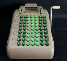 Vintage Victor Manual 63 Key Adding Machine