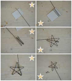 Linfa Creativa: Tutorial: Stelle in fil di ferro da utilizzare come cake-topper.