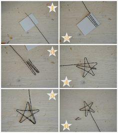 Linfa Creativa: Stelle in fil di ferro da utilizzare come cake-topper.