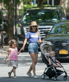 Keri Russell and family out and about