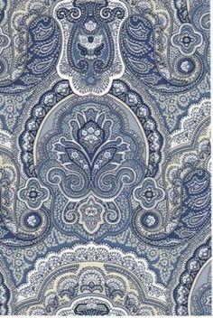 Crayford Blue Paisley Wallpaper