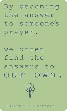 Finding answers to our prayers. Love this #quote!