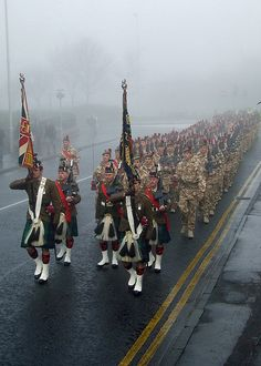 3 SCOTS, Black Watch, on parade December 11 - I definitely have Scots blood; this picture makes this American feel patriotic.