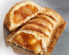 McDonald's Apple Pie-NGREDIENTS  For the dough: 1 package pastry dough, preferably Pillsbury 1 egg white 1/2 teaspoon cinnamon 1/4 teaspoon sugar For the filling: 3 Granny Smith apples, peeled, cored, and cut into 1/2-inch cubes 1 tablespoon sugar 1 teaspoon cinnamon 2 tablespoons unsalted butter 2 tablespoons water 1 tablespoon flour.