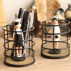 Brand New Creative Round Steel Mesh Style Pen Pencil Cup Desk Organizer Holder for Home Office