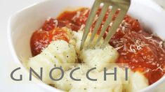 3-Ingredient Potato Gnocchi Pasta Recipe 뇨끼 만들기