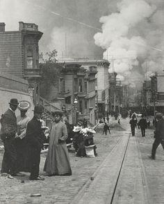 Arnold Genthe, (1869 - 1942)  San Francisco Earthquake aftermath, 1906  (via http://www.pinterest.com/clarisav/)