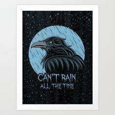 'Can't Rain All The Time' print by Matthew J Parsons, $18.00