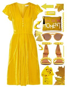 """""""Yellow velvet"""" by sunnydays4everkh ❤ liked on Polyvore featuring Altuzarra, Twig & Arrow, Givenchy, Tom Ford and Tony Moly"""