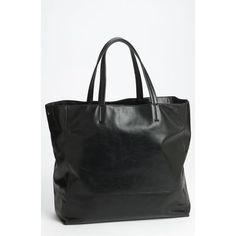 ffa00160ab7d Lafayette 148 New York 'Anna' Leather Tote Black Leather Tote, Black Tote  Bag