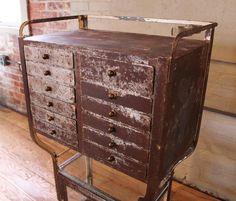 Vaslemez szekrény Industrial Loft, Industrial Design, Loft Design, Loft Style, Wabi Sabi, Rustic Furniture, Antiques, Ideas, Home Decor